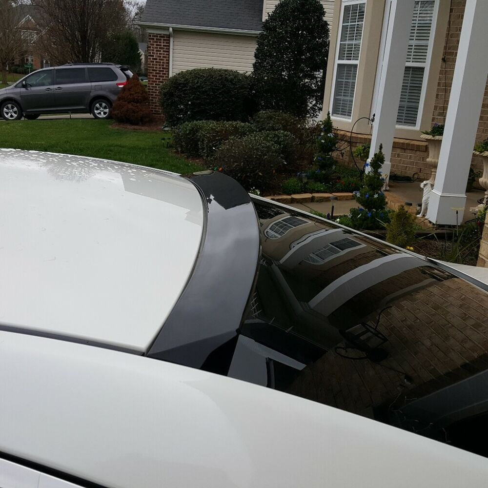 Painted 2004 2008 For Acura Tl Trunk Lip Spoiler Satin: Unpainted V Style Rear Window Roof Spoiler Wing For Lexus