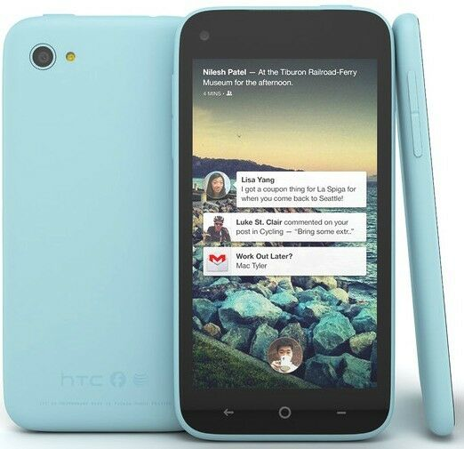 """HTC FIRST Blue """"UNLOCKED"""" AT&T 16 GB Smartphone 4G LTE ..."""