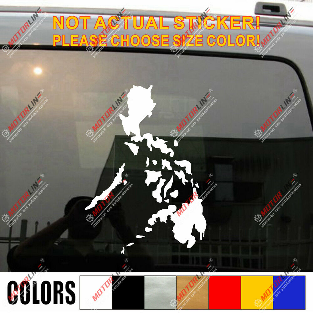 Details about map of philippines car decal sticker outline filipine