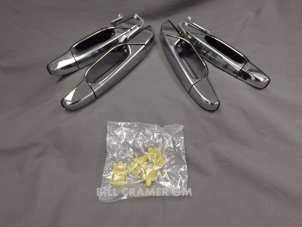 22980568 Chrome Outside Door Handles Front Rear New Oem Chevy Gmc Ebay