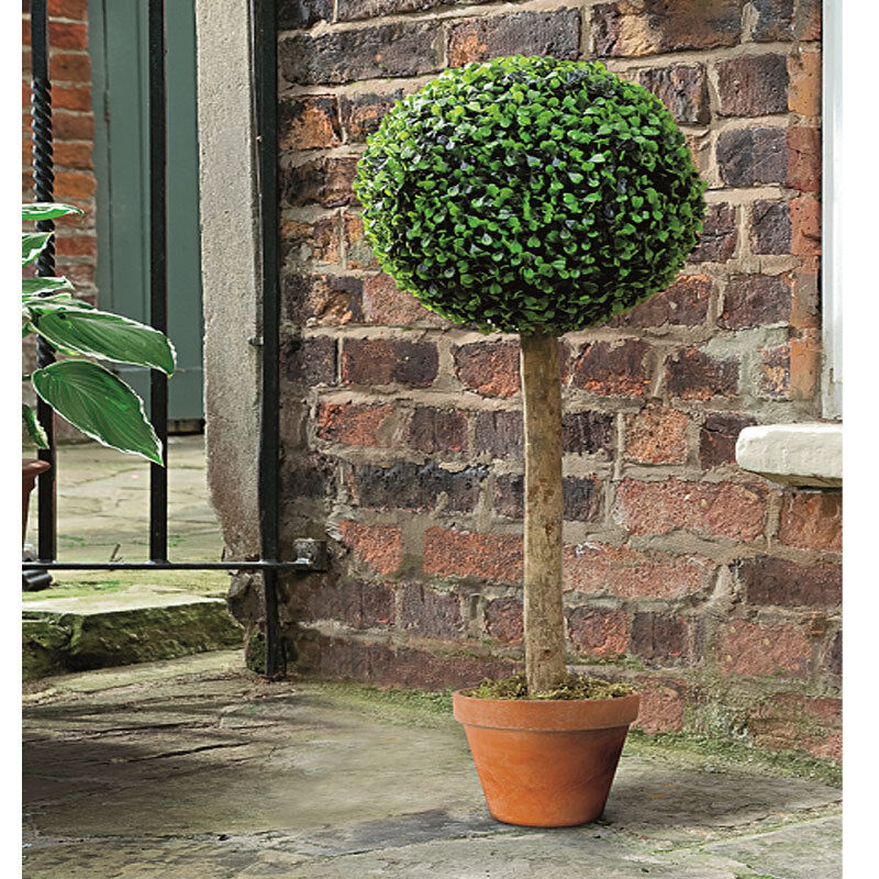 Gardman topiary ball artificial tree leaf effect includes for Tree decorations for garden