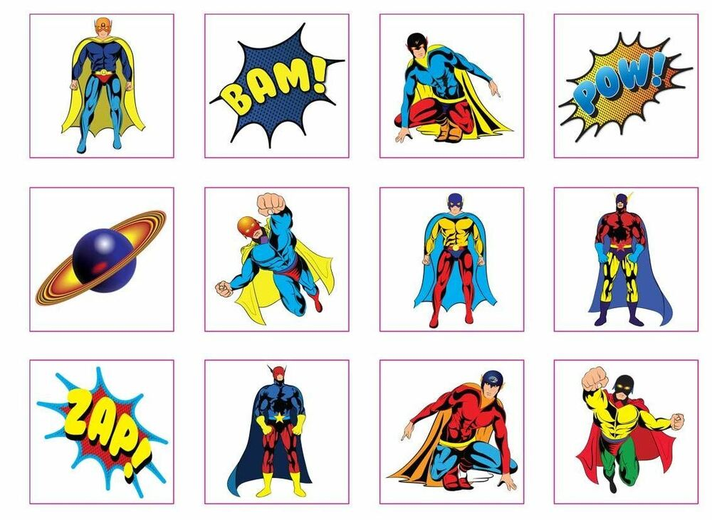 Temporary super hero superhero tattoos children kids party for Superhero temporary tattoos