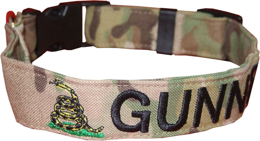 Military Logo Dog Collars Personalized Embroidered
