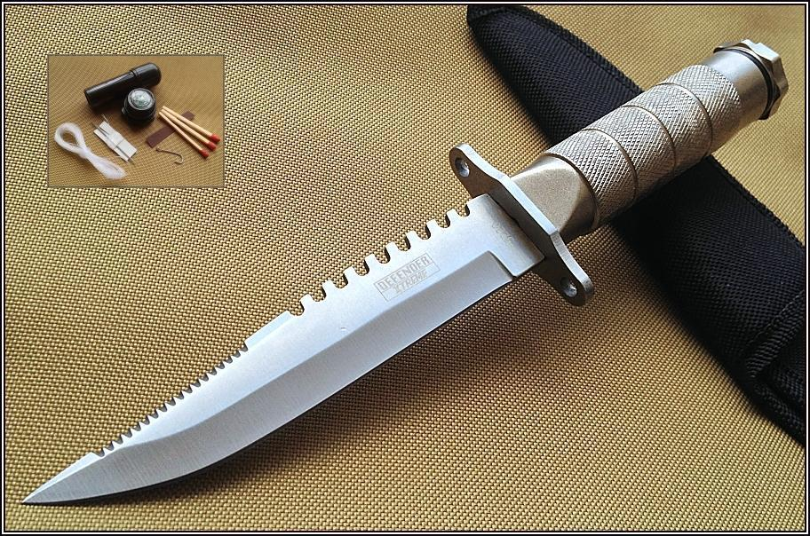 Defender Xtreme Survival Knife Hunting Fixed Blade W