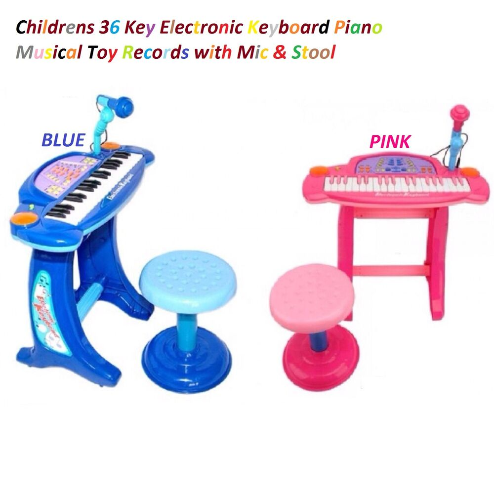 Childrens 36 Key Electronic Keyboard Piano Mic Musical Toy