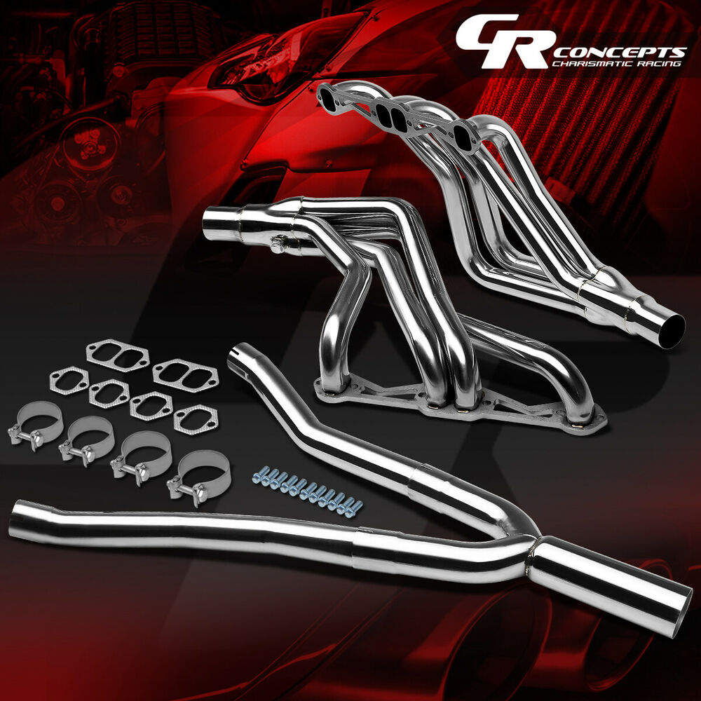 STAINLESS STEEL LONG TUBE HEADER MANIFOLD EXHAUST+Y-PIPE