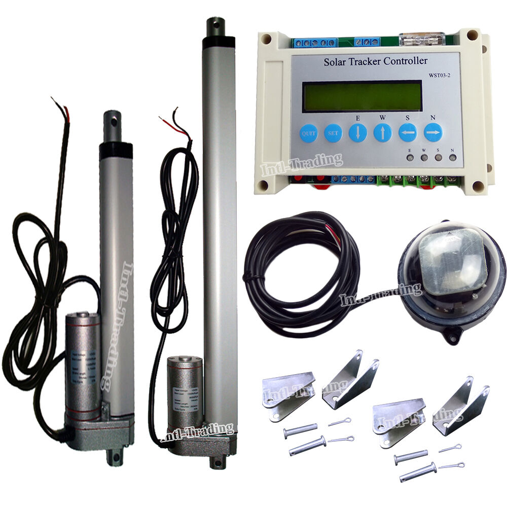 Solar Tracking Tracker Dual Axis System Kit 6 Quot Amp 12 Quot Linear
