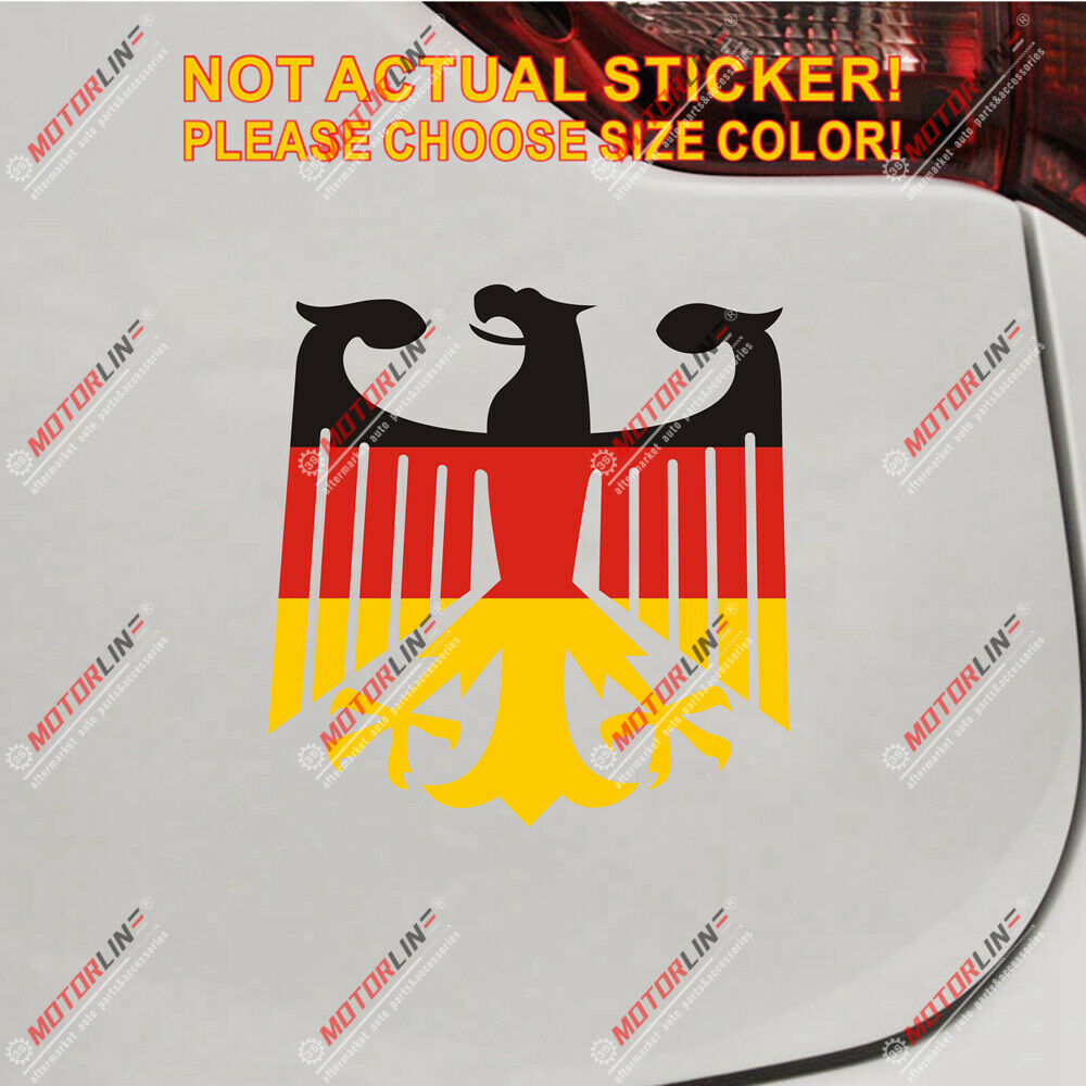 Germany German Flag Coat Of Arms Eagle Car Decal Bumper