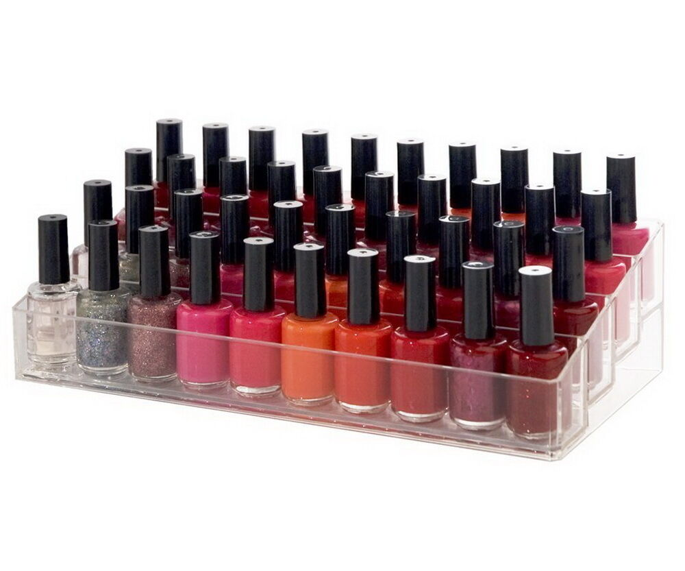 nail polish organizer acrylic cosmetic display storage box. Black Bedroom Furniture Sets. Home Design Ideas