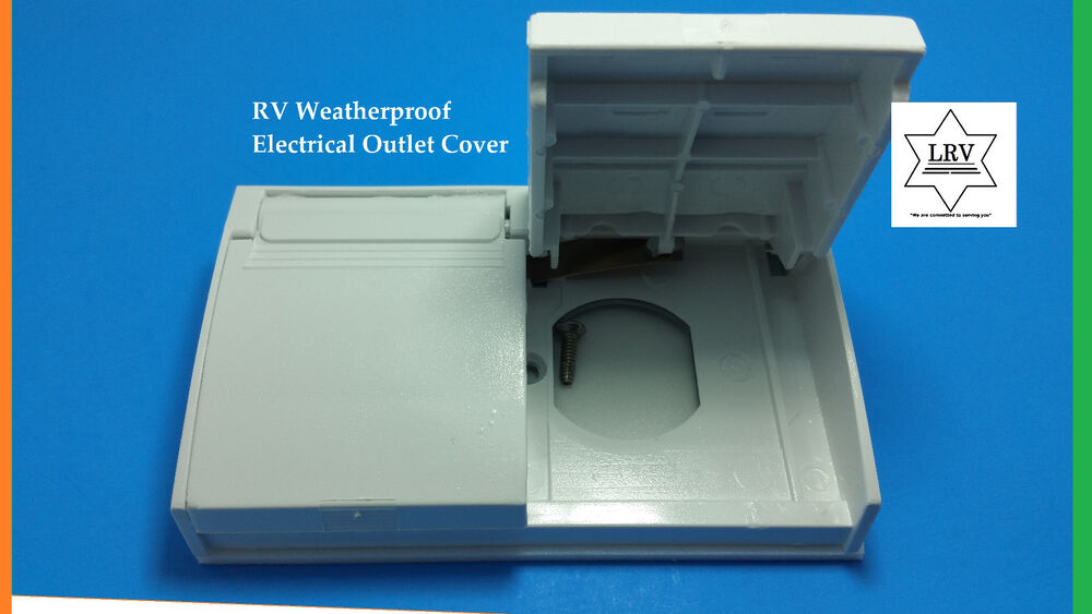 White Rv Weatherproof Outlet Cover For Exterior Gfci 120v Receptacle Cover New Ebay