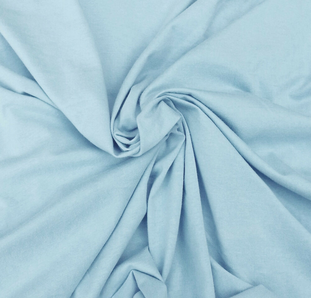 Baby blue cotton fabric jersey knit by the yard good for for Baby fabric by the yard