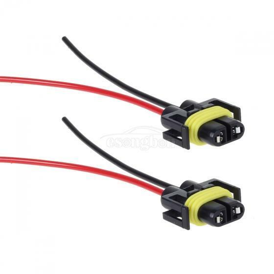 2xh8 h11 wiring harness extension wire socket adapter connector play ebay