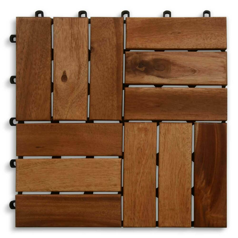 terrassenfliesen klickfliesen holzfliesen garten balkon fliesen platten 30x30cm ebay. Black Bedroom Furniture Sets. Home Design Ideas