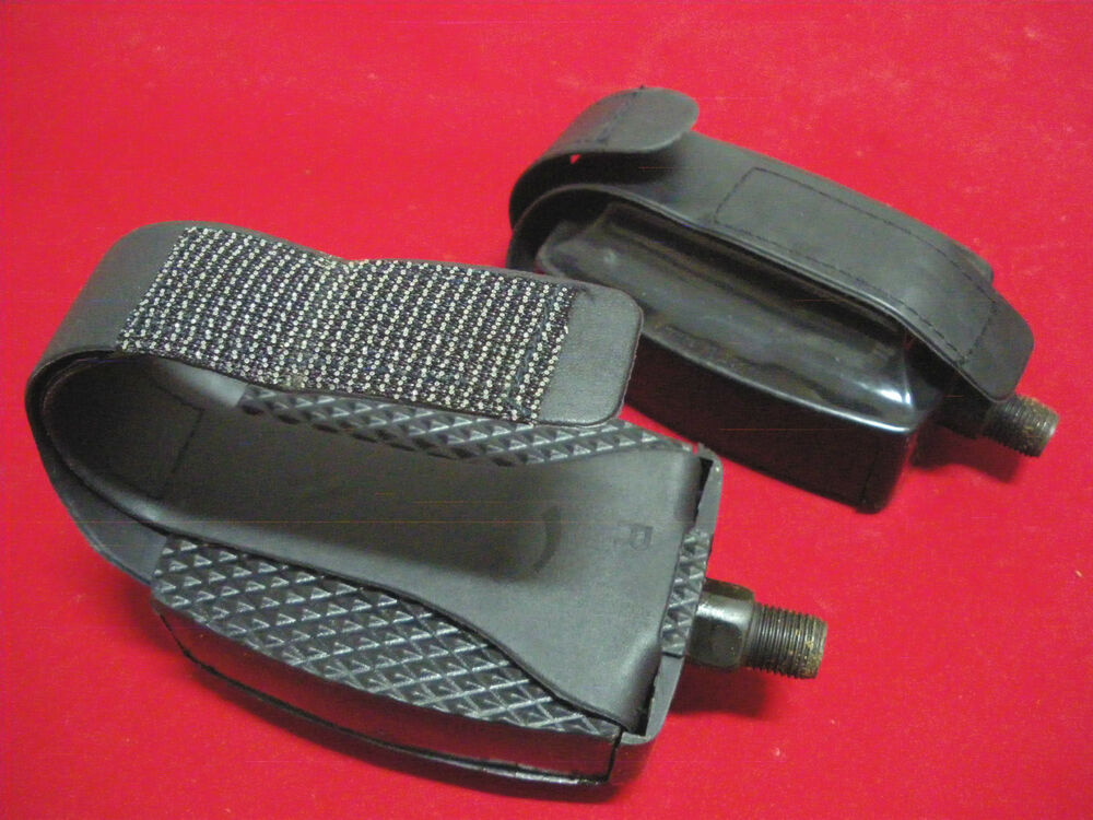 Exercise Bike Pedals Adjustable Straps 1 2 Stationary Gym