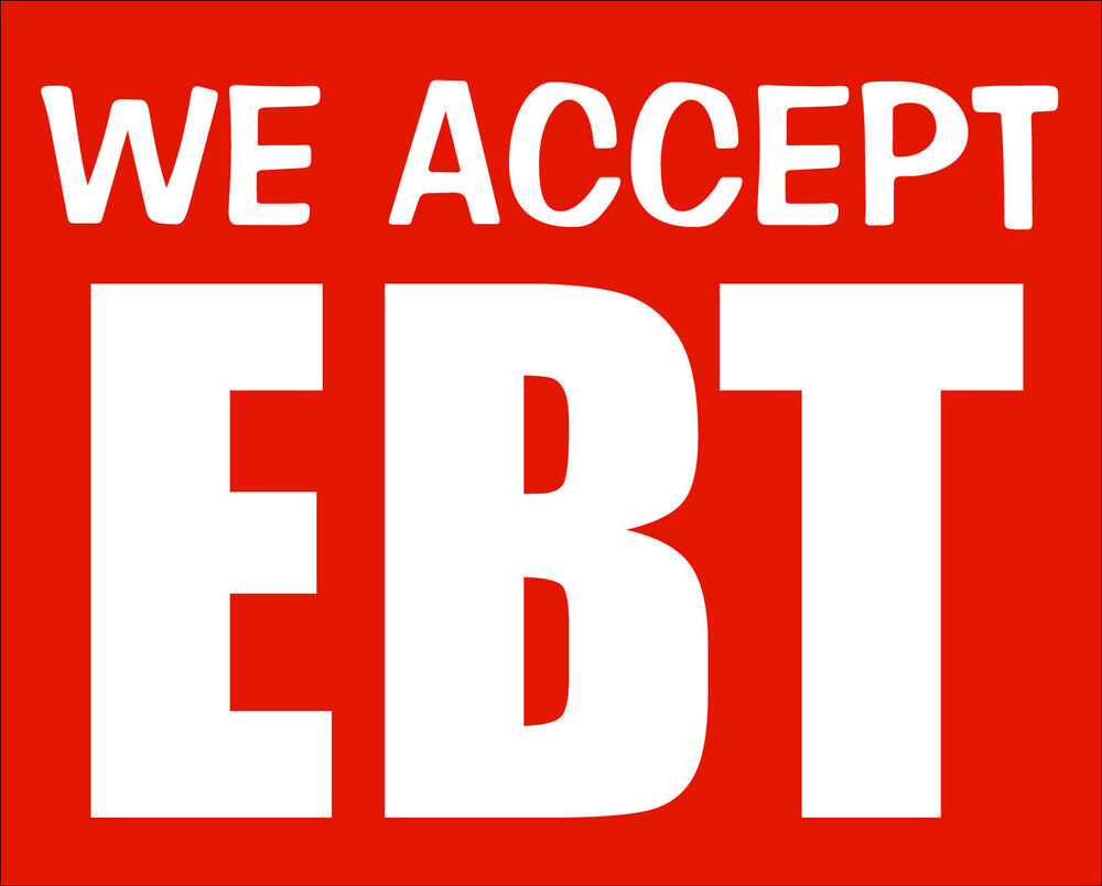 4x5 Inch We Accept Ebt Sticker Business Window Decal