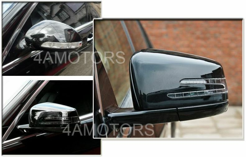 W221 s class s300 s350 s400 mirror set fit 2007 2009 for Mercedes benz c300 side mirror glass