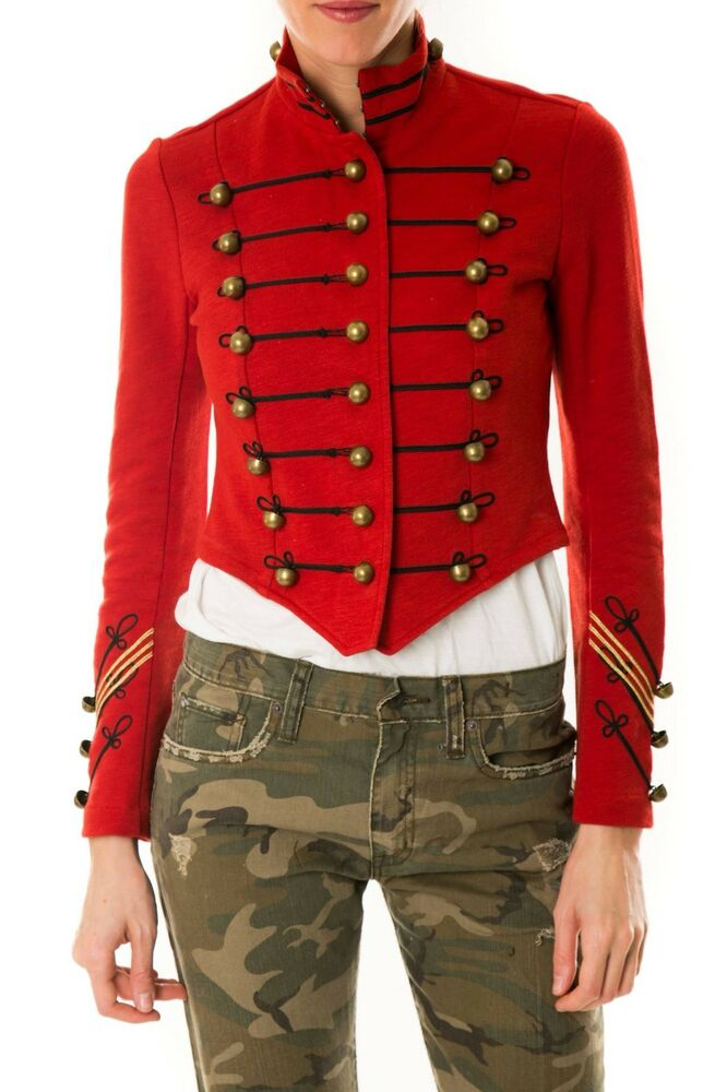 ralph lauren embroidered cropped military jacket