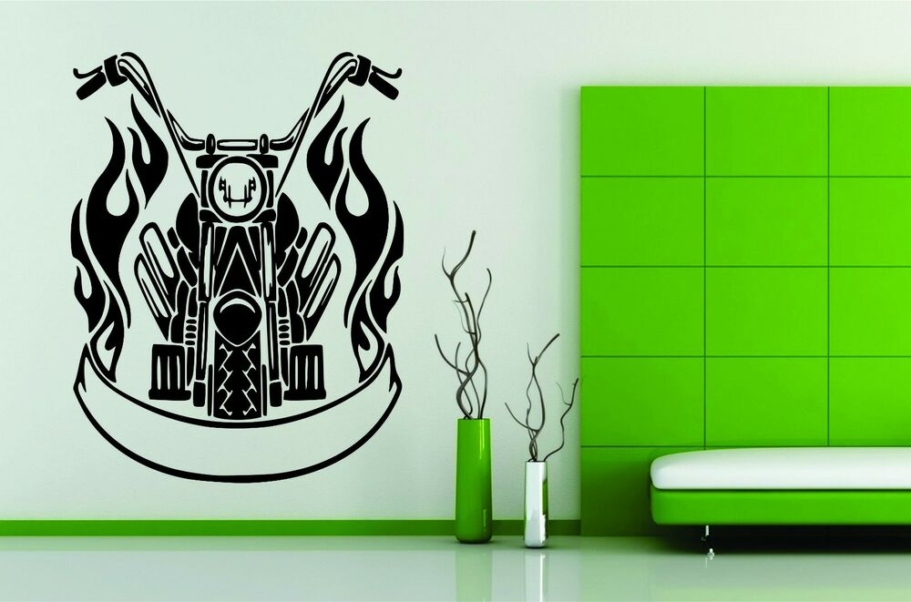 wall mural vinyl decal sticker motorcycle bike 291 best images about harley davidson on pinterest