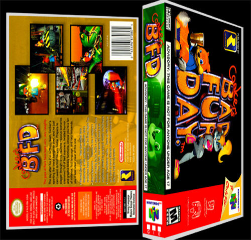 conkers bad fur day n64 reproduction art case box no game ebay. Black Bedroom Furniture Sets. Home Design Ideas