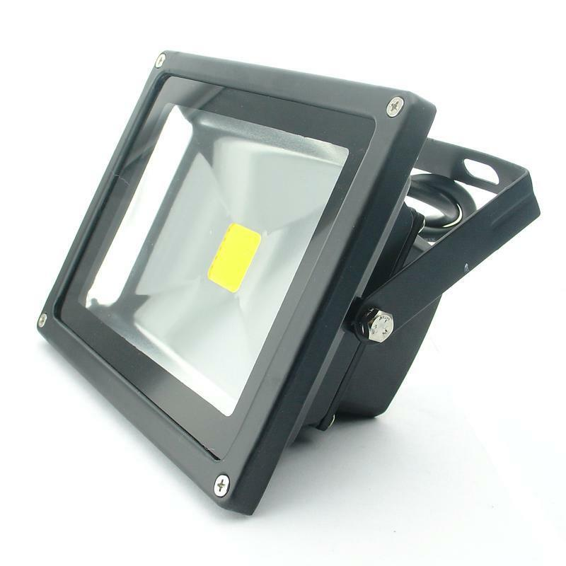 uspost 12v 24v 20w cool warm white led flood light lamp outdoor waterproof black ebay. Black Bedroom Furniture Sets. Home Design Ideas