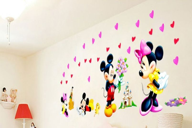 micky maus wandtattoo wandsticker xxl 150cm x 50cm mickey. Black Bedroom Furniture Sets. Home Design Ideas