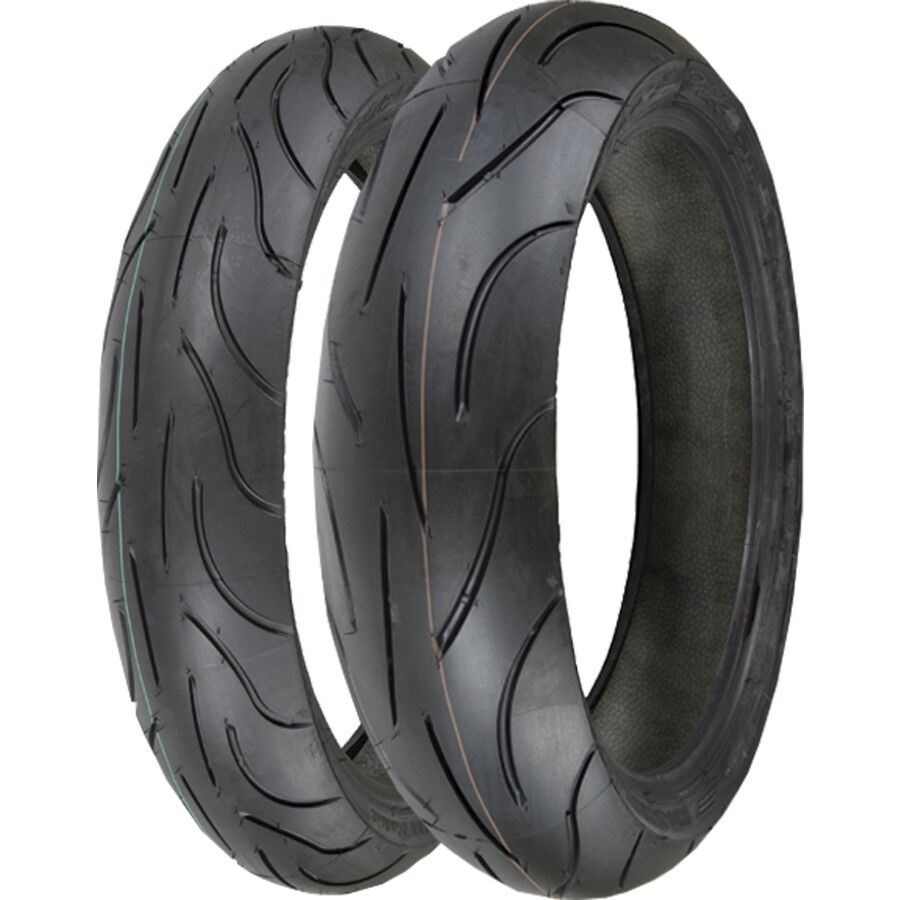 (PAIR) TWO MICHELIN PILOT POWER 120/70ZR17 & 180/55ZR17 ...