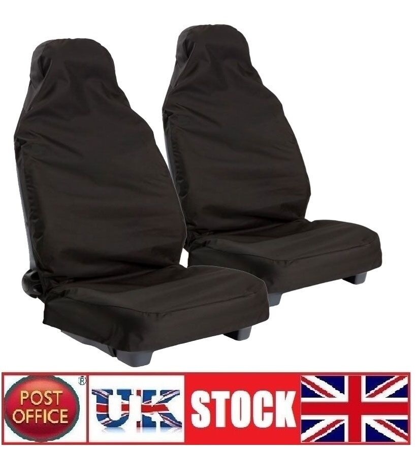 universal car van seat cover rain pet front seat cover protector nylon pair of ebay. Black Bedroom Furniture Sets. Home Design Ideas