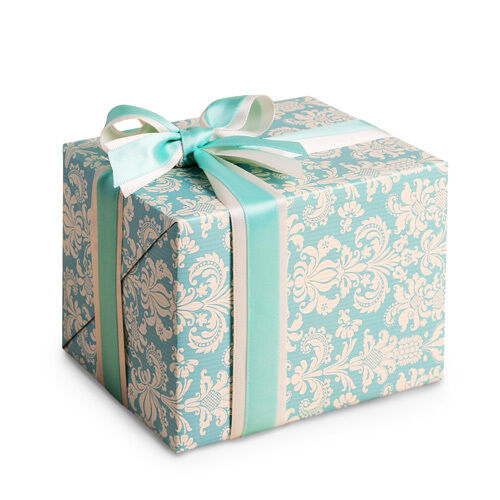 Blue vintage for jewelry wrap craft wrap gift wrap for How to wrap presents with wrapping paper