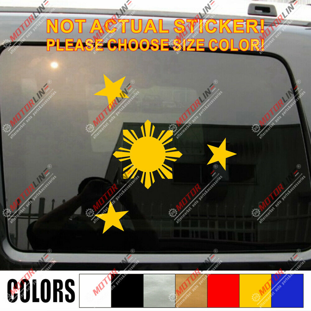Eight ray sun with stars flag of the philippines car decal sticker ebay