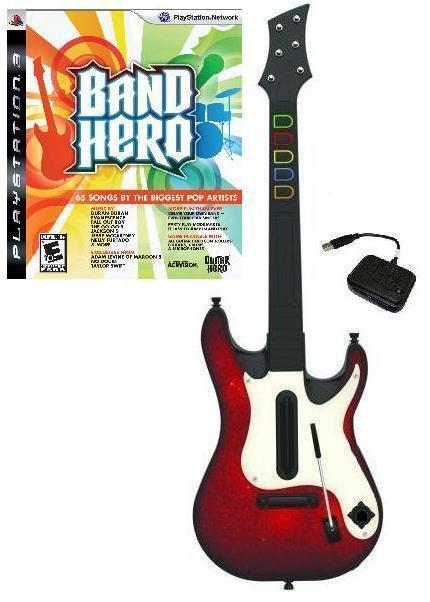 new ps3 wireless guitar hero 5 guitar band hero game. Black Bedroom Furniture Sets. Home Design Ideas