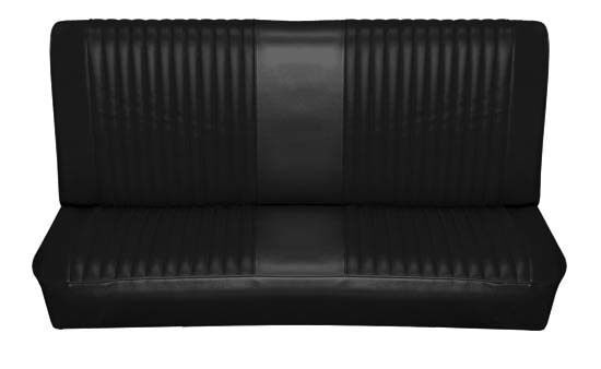 65 falcon futura hardtop rear bench seat upholstery black ebay. Black Bedroom Furniture Sets. Home Design Ideas
