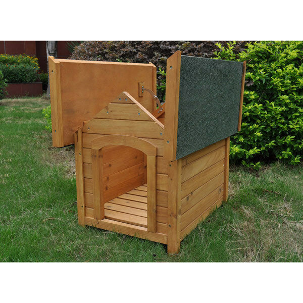 Outdoor Wooden Dog Kennel Waterproof Heat Resistant Hinge