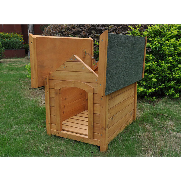Outdoor Wooden Dog Kennel Waterproof Heat-resistant Hinge
