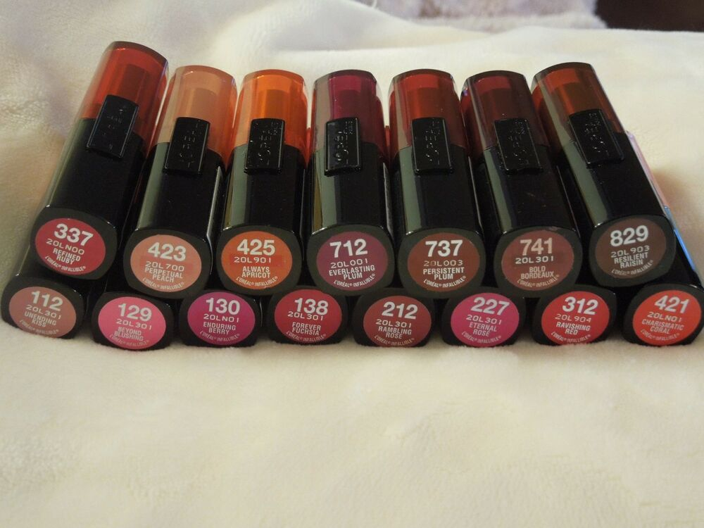 L Oreal Infallible Lipstick Choose From Over 16 Shades