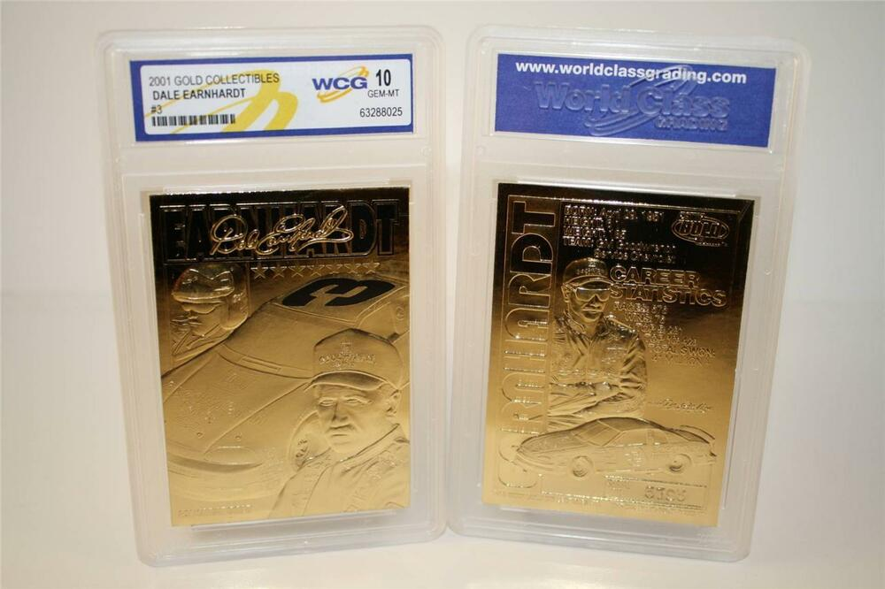 2001 DALE EARNHARDT 23 Kt Gold Card The Intimidator #3 Black Auto in Cd Case