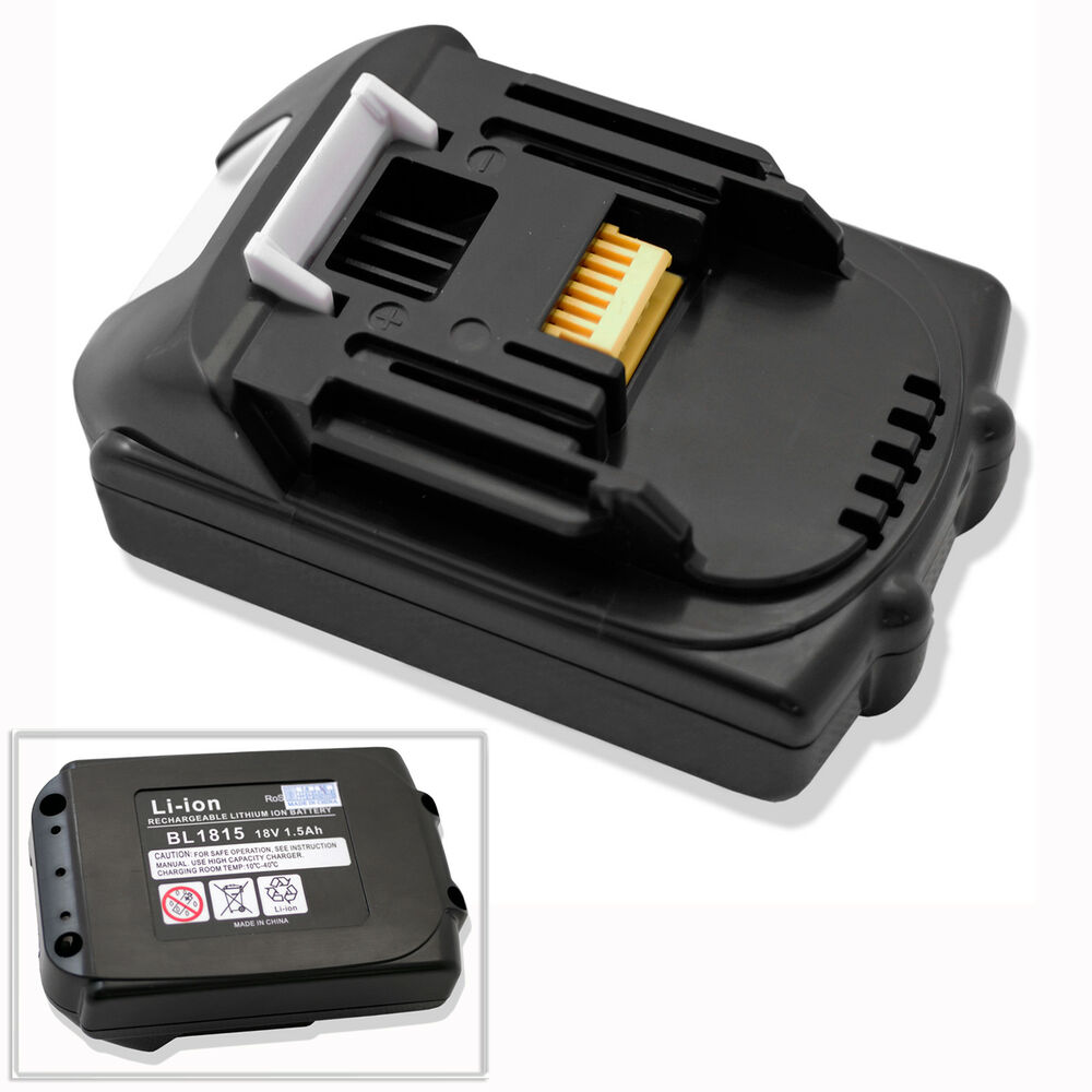 new 18v 1 5 ah battery for makita bl1815 bl1830 lithium ion compact cordless ebay. Black Bedroom Furniture Sets. Home Design Ideas