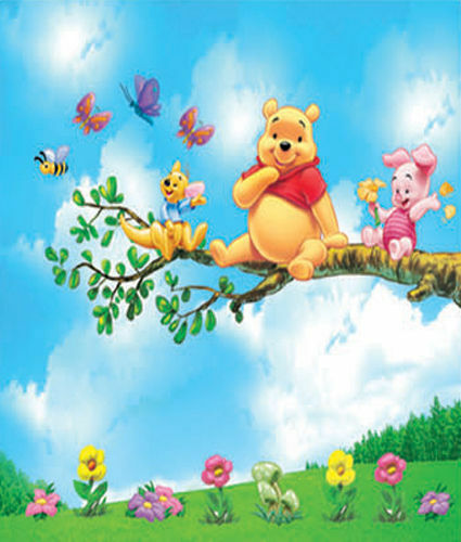 winnie pooh wandtattoo wandsticker xxl 140x130cm ferkel kinderzimmer wanddeko 3 ebay. Black Bedroom Furniture Sets. Home Design Ideas
