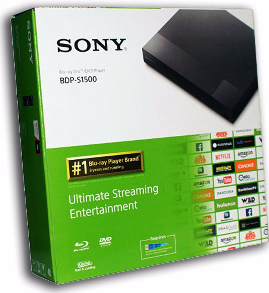sony bdp s1500 bdps1500 hd smart blue ray disc player. Black Bedroom Furniture Sets. Home Design Ideas
