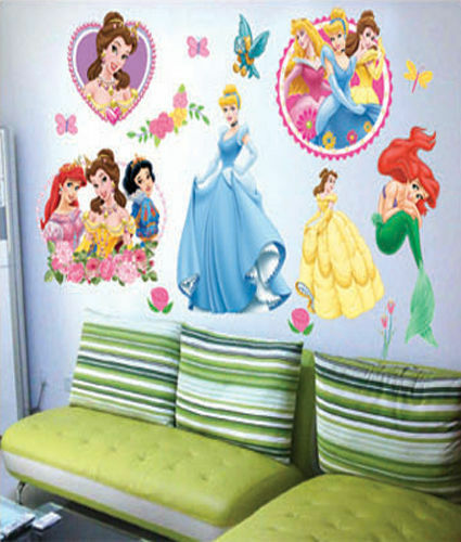 wandtattoo disney prinzessin wandsticker deko s ss m dchen. Black Bedroom Furniture Sets. Home Design Ideas