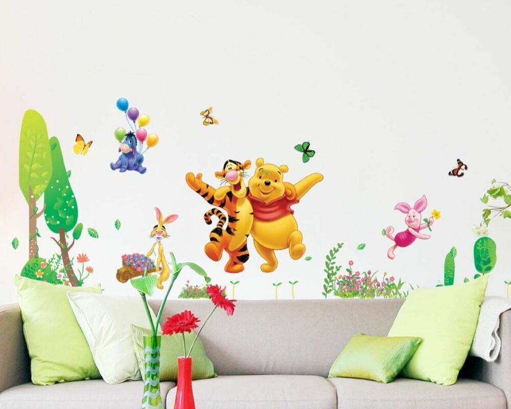 wandtattoo wandsticker winnie pooh tigger wandaufkleber kinderzimmer disney 5 ebay. Black Bedroom Furniture Sets. Home Design Ideas