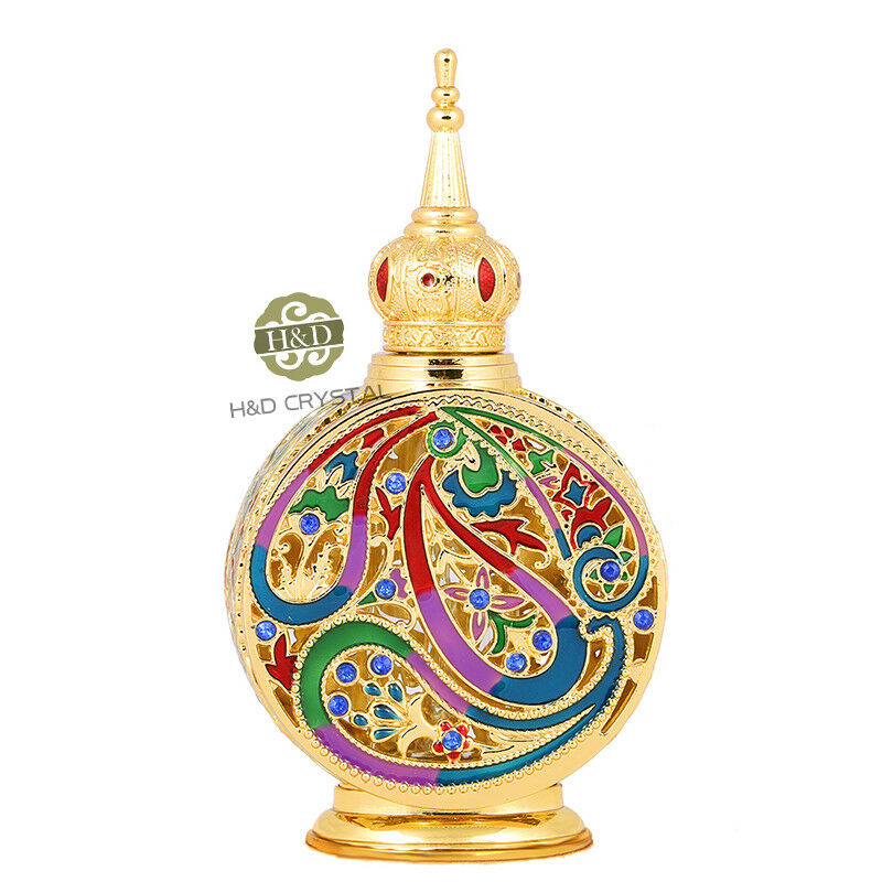 Wholesale Decorative Perfume Bottles: Vintage Crystal Glass Metal Perfume Bottle Fragrance Empty