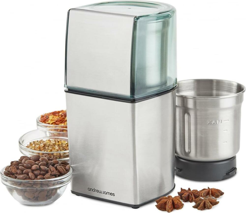 Electric Spice Grinder ~ Andrew james electric wet dry coffee bean nut spice