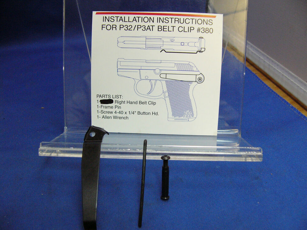 Belt clip for the ruger lcp 380 and kel tec 380 right hand ebay
