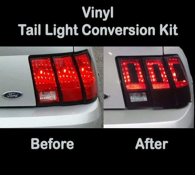 Details About 1999 2000 2001 Ford Mustang Tail Light Conversion Kit To 2017 Vinyl Decal Wrap