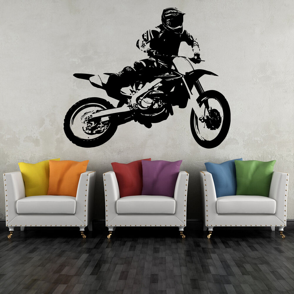 wandtattoo moto cross 03 70x58 cm motorrad motorsport. Black Bedroom Furniture Sets. Home Design Ideas