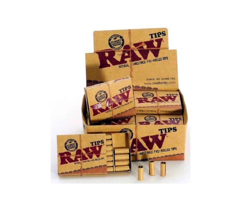 Raw Pre Rolled 420 Tips Unrefined Prerolled Cigarette