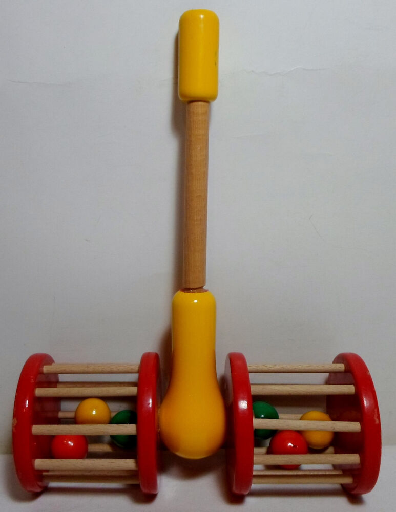 Kouvalias vtg s greek wooden double wheel pull toy