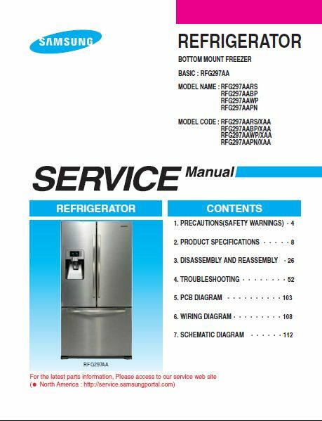 Samsung French Door Refrigerator Rfg297aa Service Amp Repair