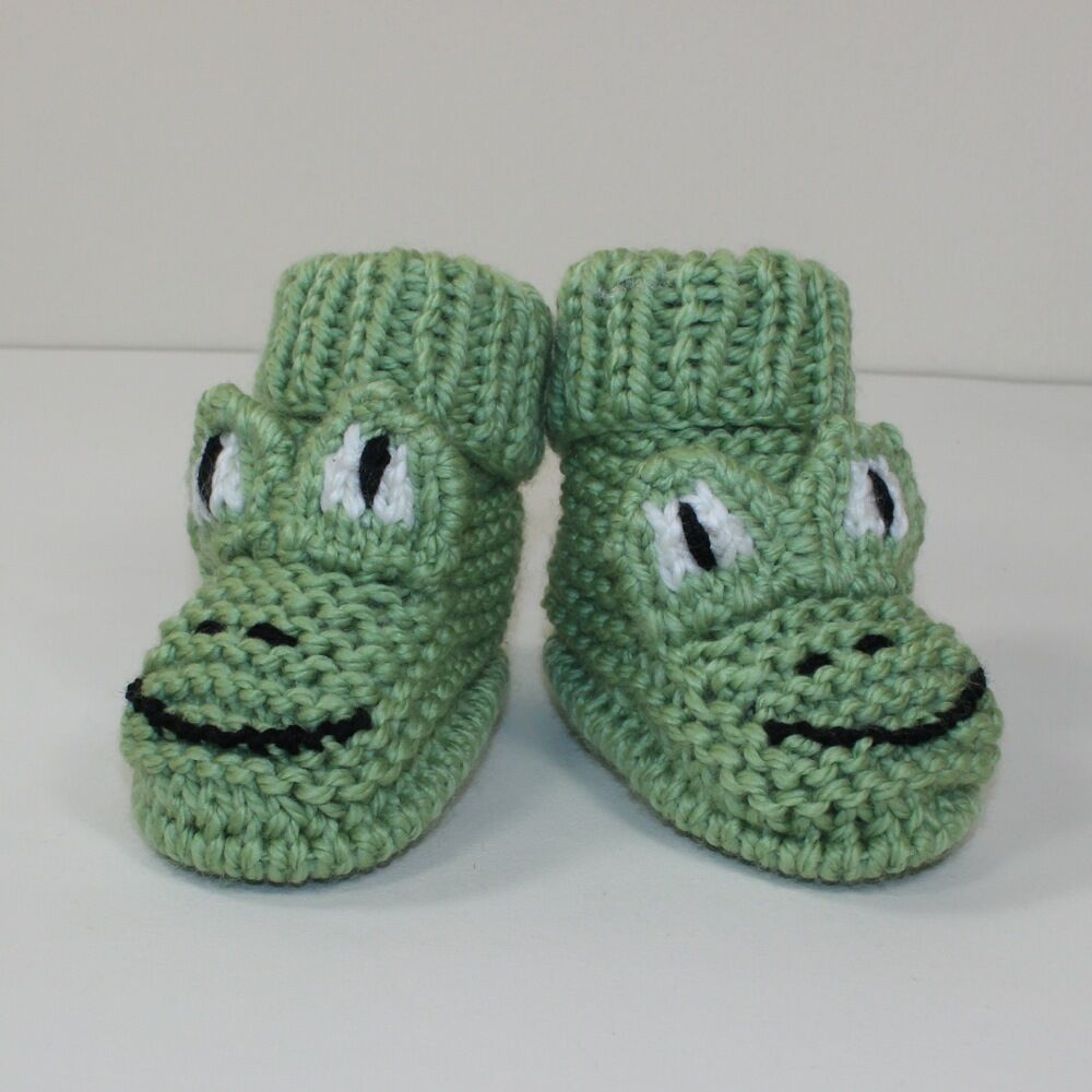 PRINTED KNITTING INSTRUCTIONS - TODDLER FROG BOOTS KNITTING PATTERN eBay