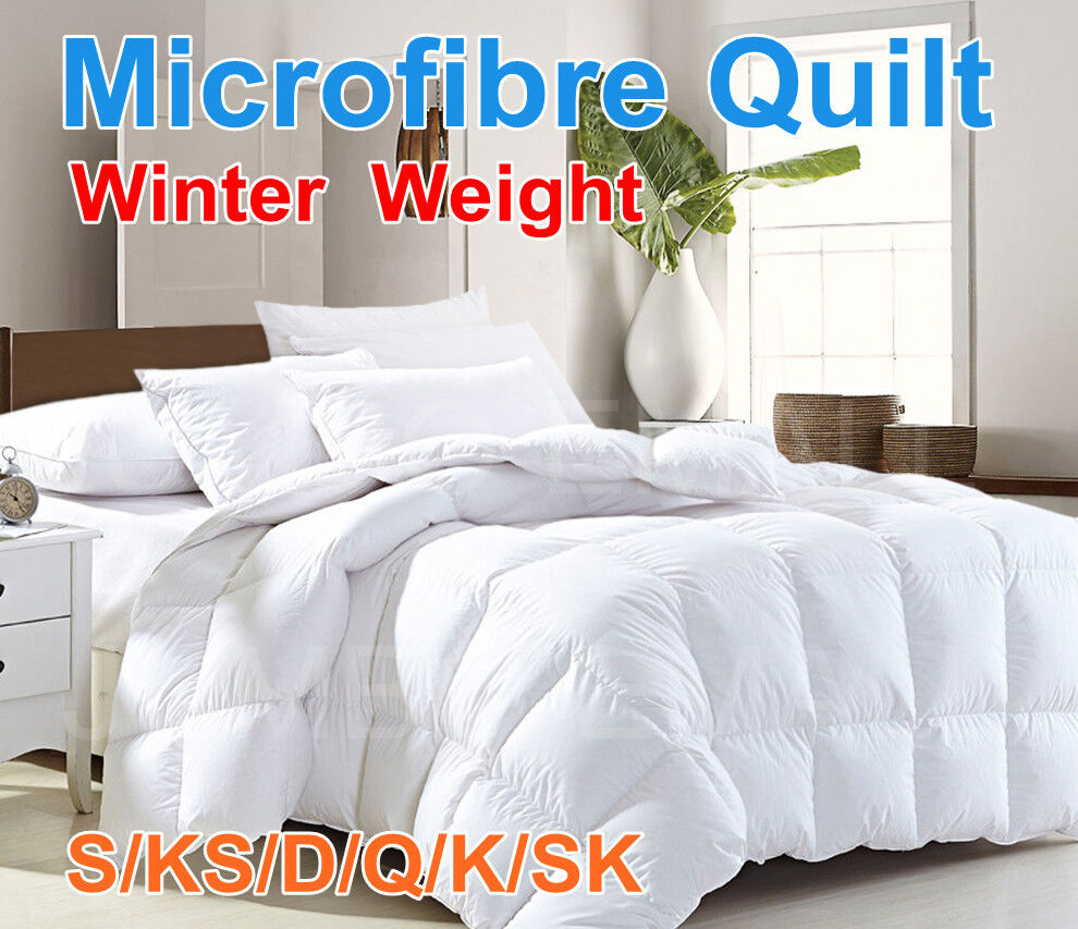 All Size Microfibre Winter Weight Quilt Duvet Blanket Soft